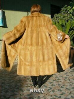 Stunning New Large Full Length Real Golden Sable Fur Coat / Jacket