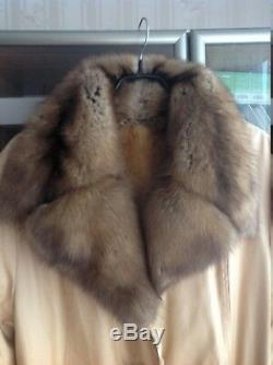 Stunning New Large Full Length Real Sable + Plucked Mink Fur Coat / Jacket