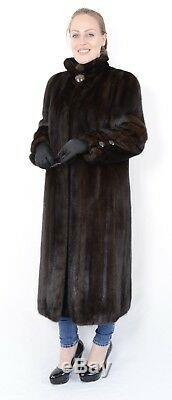 US1077 STYLISH MINK FUR COAT FULL LENGTH FEMALES L abrigo de visón Nerzmantel
