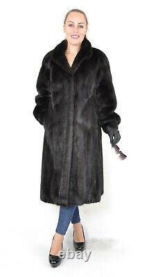 US2693 FANTASTIC MINK FUR COAT FULL LENGTH JACKET FEMALE SIZE L Nerzmantel