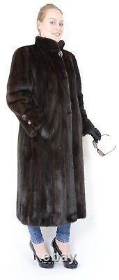Us1077 Stylish Mink Fur Coat Full Length Female Size L Nerzmantel Pelliccia