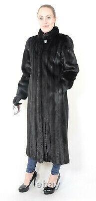 Us2012 Beautiful Female Mink Fur Coat Jacket Full Length Size L Nerzmantel