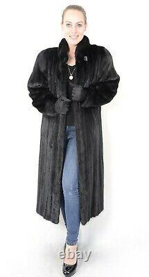Us2012 Real Female Mink Fur Coat Jacket Full Length Size L Nerzmantel