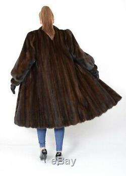 Us2097 Beautiful Female Mink Fur Coat Full Length Size L Nerzmantel Pelliccia
