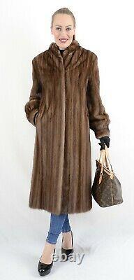 Us2198 Beautiful Female Farmer Mink Fur Coat Jacket Size L Nerzmantel