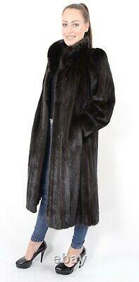 Us2274 Beautiful Saga Mink Fur Coat Female Skins Size L Nerzmantel Pelliccia