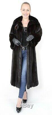 Us2428 Blackglama Dark Ranch Mink Fur Coat Full Length Lightweight Size L