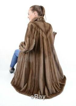 Us2440 Female Saga Mink Fur Coat Lightweight Full Length Size L Nerzmantel