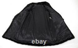 Us2532 Beautiful Dark Farmer Mink Fur Coat Full Length Size L Nerzmantel