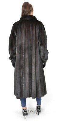 Us2722 Beautiful Saga Mink Fur Coat Full Length Lightweight Size L Nerzmantel