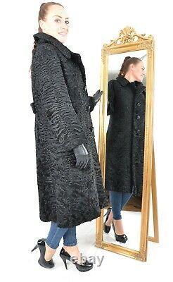 Us2890 Swakara Persian Lamb Fur Coat Full Length Jacket L Persianer Mantel