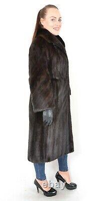 Us2908 Fantastic Farmer Mink Fur Coat Full Length Size L Nerzmantel Pelliccia