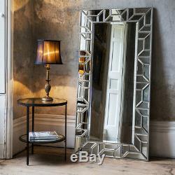 Verbier Large Modern Silver Full Length Leaner Floor Wall Mirror 158cm x 80cm
