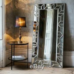 Verbier Large Modern Silver Full Length Leaner Floor Wall Mirror 80cm x 158cm