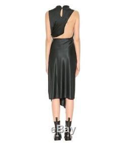 Vetements 1st Collection Black Satin Dress Demna Gvasalia Balenciaga Long Ruffle