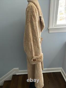 Vintage FENDI for Neiman Marcus Camel Color Shaved Fur full length Coat LOOK