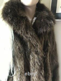 Vintage Full Length Fur Coat By Black Diamond Fur Co