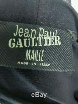 Vintage Jean Paul Gaultier Mesh Long Dress + mesh cover Sz L EU 40 UK 12
