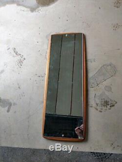 Vintage Retro Danish Teak Style Solid Wood Rare Large Full Length Wall Mirror