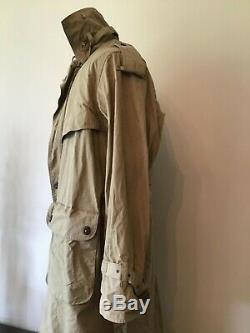 Willis & Geiger 100% Ventile Trench Coat Full Length Overcoat Wool Liner Mens L