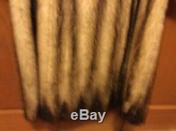 Womans Full Length Fitch Fur Coat Size Large