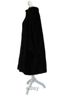 Womens Ladies X-large Full Length Real Blackglama Black Mink Fur Coat Jacket