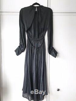 Zara Backless Satin Dress Size L UK 12