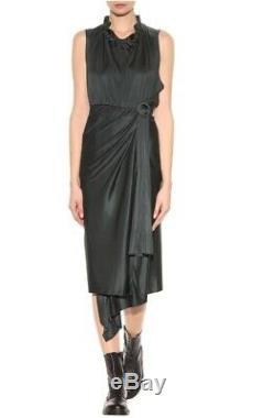 1er Collection Robe Vetements Satin Noir Demna Gvasalia Balenciaga Long Ruffle