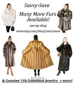 20 Favs! Moyenne Grande 42 Chest Ranch Mink Dark Brown Long Full-length Ranch Fur