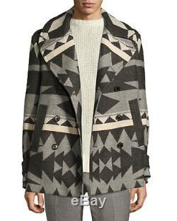 3995 $ Ralph Lauren Violet Étiquette Hommes Italie Laine Beacon Caban Caban Jacket