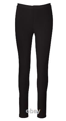 550 $ Ralph Lauren Purple Label Collection Pantalons Black Skinny Stretch Jersey Pantalons