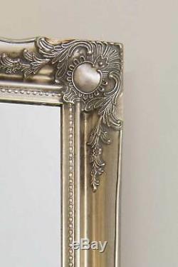 5ft6 X 1ft6 Grand Argent Cadrage En Pied Classique Ornement Décoratif Cheval Miroir
