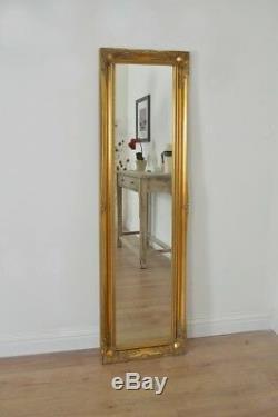 5ft6 X 1ft6 Grand Or Longueur Pleine Classique Ornement Décoratif Cheval Miroir