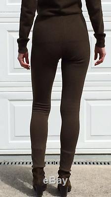 998 $ Ralph Lauren Purple Label Pantalons Cachemire Leggings Vert Militaire De L