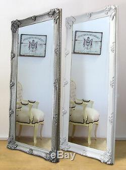 Abbaye Ornement Grand Blanc Longueur Leaner Miroir Plein Ou Argent 65 X 31
