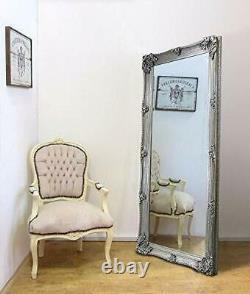 Abbey Large Full Length Shabby Chic Vintage Leaner Miroir Argent 32 X 68