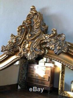 Antique Gold Grande Arche Cadrage Française Leaner Robe Dressing Miroir Mural