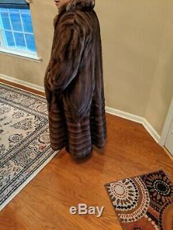 Belle Longueur Pleine Directional Sable / Demi Buff Mink Coat Fur