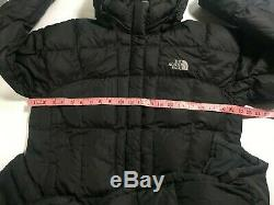 Black North Face Cadrage En Pied Quilted Puffer 700 Long Manteau Grande