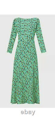 Bnwt Vert Floral Rixo Paola Maxi Robe Taille Grande Royaume-uni 14 Printemps Été 2021 Soleil