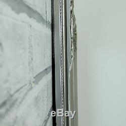 Bristol Extra Large Vintage Cadrage Mur Miroir Antique Silver Leaner 72x48