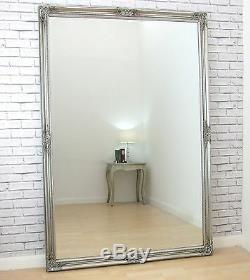 Bristol X Large Longueur Pleine Vintage Mur Miroir Antique Silver Leaner 183x122cm