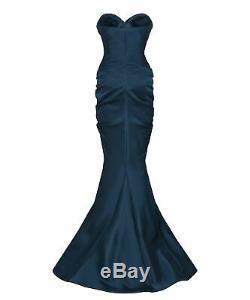 Christian Dior Haute Couture En Satin De Soie Corset Sculptée Robe Royaume-uni 12