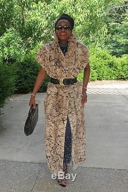 Designer Rex Fendi Chinchilla Long Manteau De Fourrure Pleine Longueur Veste Trench 2pc S-l 4-12