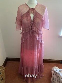 Doen Antoinette Rose Robe En Soie Taille L