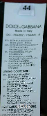 Dolce Et Gabbana Dentelle Lambrissé Bow Agrémentée Silk Blend Robe IL 44 12 Royaume-uni