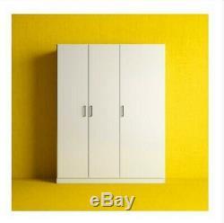 Dombas Grande Taille Armoire 3 Portes Blanc Étagères Réglables Ikea