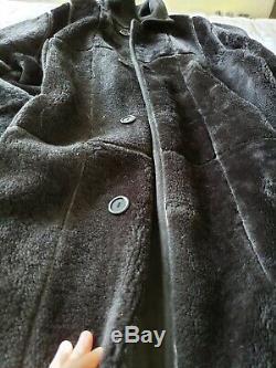 Dominic Bellissimo Pleine Longueur Réversible Tranchée En Peau De Mouton De La Couche De Peau De Mouton L / 12
