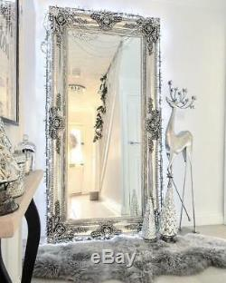 Ella Ornement Cadrage En Grand Vintage Sol / Mur Miroir 80 X 40 (200 X 100cm)