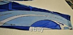 Emilio Pucci Vintage Leggings Turquoise Blue Classic Impression De L Preowned